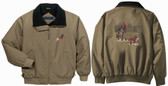 Calf roping jacket front and back