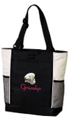 Bedlington Terrier Tote Font shown on bag is JINGLE