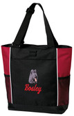 Briard Tote Font shown on bag is JET SCRIPT