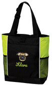 Brussels Griffon Tote Font shown on bag is LAVERNE