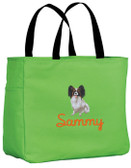 Papillon Tote Font shown on tote is NUDEL SCRIPT