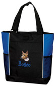 Basenji Tote Font shown on bag is BOYZ