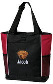 Chesapeake Bay Retriever Tote Bag Font shown on bag is BANQUET