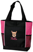 Chihuahua Panel Tote Font shown on bag is TWENTY ONE