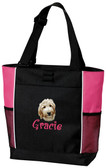 Labradoodle Panel Tote Font shown on bag is BOING
