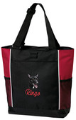 Australian Kelpie Panel Tote Font shown on bag is SCRIPT1