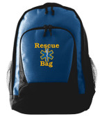 Navy EMT Backpack Font shown on bag is BRANTFORD