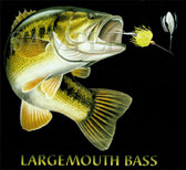 Largemouth Bass Fishing T-shirt - Imprinted