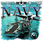 US Navy T-shirt - Imprinted US Navy