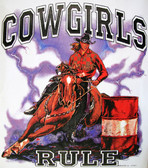 Cowgirls Rule T-shirt - Imprinted Cowgirls Rule