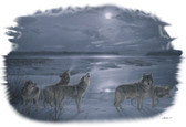 Moon Song T-shirt - Imprinted Wolves