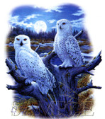 Snow Owls T-shirt - Imprinted Snow Owls