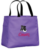 Fox Terrier Tote Font shown on tote is BOING