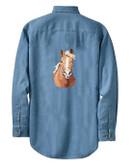 Haflinger Denim Shirt Personalized  - Embroidered Back