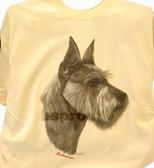 Schnauzer T-shirt - Imprinted Schnauzer Head