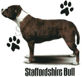 Staffordshire Terrier T-shirt - Imprinted Staffordshire