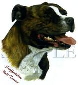 Staffordshire Terrier T-shirt - Imprinted Staffordshire Head