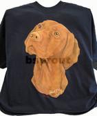 Vizsla T-shirt - Imprinted Vizsla Head