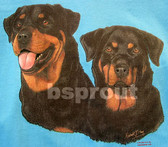 Rottweiler T-shirt - Imprinted Two Rottweilers