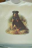 Rottweiler T-shirt - Imprinted Rottweiler Sitting