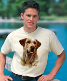 Yellow Labrador Retriever T-shirt - Imprinted Yellow Labrador Retriever