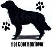 Flat Coat Retriever T-shirt - Imprinted Flat Coat Retriever