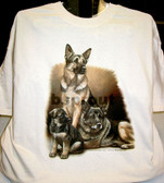 German Shepherd T-shirt - Imprinted German Shepherd Generations