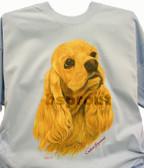 Cocker Spaniel T-shirt - Imprinted Cocker Spaniel Head