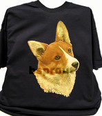 Corgi T-shirt - Imprinted Corgi Head