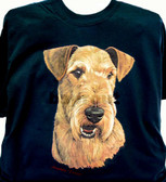 Airedale Terrier T-shirt - Imprinted Airedale Terrier Head