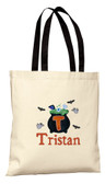 Halloween Trick or Treat Personalized Cauldron Tote