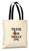 Halloween Trick or Treat Pumpkin Witch Personalized Tote
