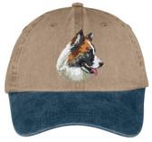 Icelandic Sheepdog Embroidered Cap