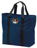 Papillon Tote Bag Personalized  - Embroidered All Purpose Tote
