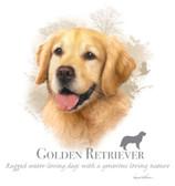 Golden Retriever T-shirt - Imprinted Golden Retriever Head