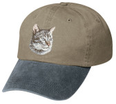Lynx Point Siamese Cat Embroidered Cap