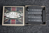 Bare Knuckle Aftermath 8 String Humbucker Pickups - Calibrated Black Open Set