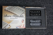 Bare Knuckle Geoff Whitehorn Crawler Humbucker Pickups - Calibrated Black Open 53mm Set