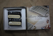Bare Knuckle Geoff Whitehorn Crawler Humbucker Pickups - Calibrated Reverse Zebra Open Set