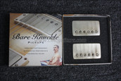 Bare Knuckle Stormy Monday Humbucker Pickups - Calibrated Aged Nickel Covered Set
