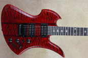 BC Rich USA Custom Shop Transparent Red Mockingbird SL Handcrafted Electric Guitar