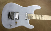 Charvel USA San Dimas Custom Shop 5A Flame Trans White Guitar