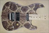 Charvel Custom Shop USA San Dimas Koa Snakeskin Guitar