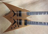 Dean USA Custom Shop Dave Mustaine Double Neck Signature V Gold Guitar
