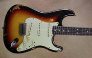 Fender Custom Shop '68 Relic Strat Michael Landau Signature 3 Tone Sunburst Stratocaster Guitar
