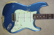 Fender Custom Shop Strat '62 Heavy Relic Stratocaster Lake Placid Blue Guitar
