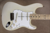 Fender Custom Shop Relic '69 Stratocaster Maple Neck Aged White Blonde Guitar