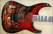 Jackson Custom Shop USA SL2H Soloist with Custom Daneen Demon Graphic Electric Guitar