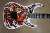 Jackson Custom Shop USA SL2H Soloist with Custom Mike Learn Koi Fish Graphic Electric Guitar