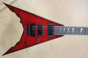 Jackson USA Corey Beaulieu Signature KV 6 King V Trans Red Guitar